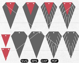 Diamond Stack Fringe SVG, Diamond Earring svg, leather jewelry making Clipart, cricut, silhouette cut files commercial use