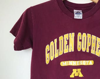 Kids vintage Minnesota Golden Gophers tee