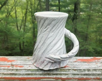 Speckled Mug / Carved Mug / Textured Mug / Unique Mug / Ceramic Mug / Handmade Pottery