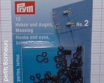 Box of 12 clips couture - black - length 10 mm (263 850)