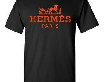 Hermes Paris Black T-Shirt