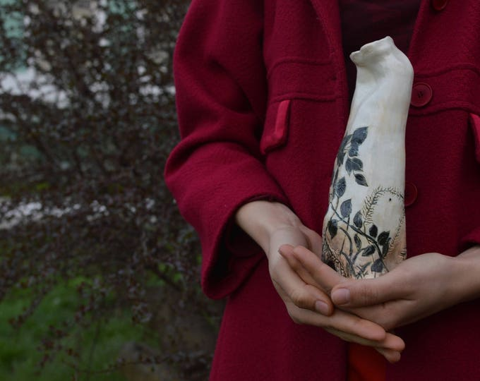 Original Vase, Whate Modern Abstract Vase, Art Pottery, White Fine Art, Amazing Home decor, Artwork, Ceramic Art Vase, Contemporary design