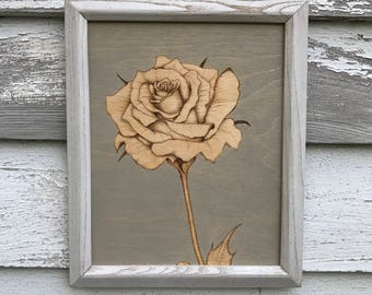 Rose Woodburning