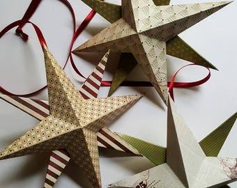 3 Christmas stars to hang