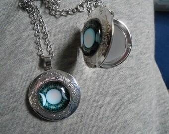 Triple moon goddess locket