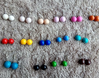Earrings pearls fimo color choices