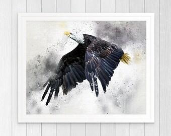 Eagle Wall Art, EagleArt  print Decor, American Eagle Wall Art, Eagle Wall Decor, Eagle Poster, Bald Eagle Prints, Modern Eagle Art