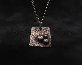 Silver textured pendant