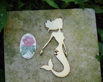 Mermaid 02021 embellishment wooden creations