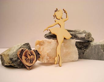 Ballerina 02040 embellishment wooden creations