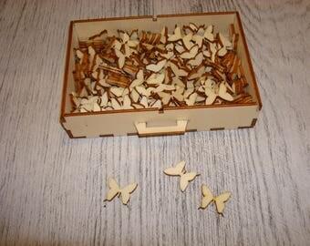 lot 50 butterflies gd size 2723 embellishment wooden creations