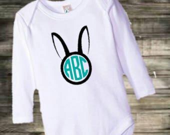 Easter monogram bodysuit/tshirt