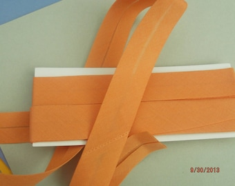 1 meter of plain double bias orange polycotton 20 mm