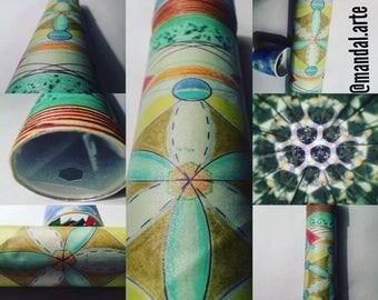 Handmade Caleidocospio, 30 cm, double view, interchangeable background