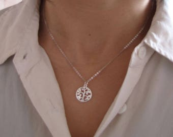 tree of life Choker necklace 925 sterling silver