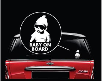 Baby On Board Carlos Hangover Window Decal Sticker