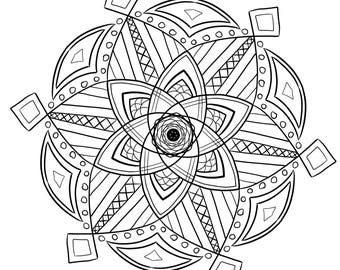 Mandala Coloring Page St Patrick's Day printable March