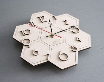 Settlers of Catan | Clock. Workpiece for crafts. Not painted. Gift for gamer. Handmade. Custom Wood Board Game Pieces In stock.