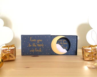 """Edition limitée Noël - Diorama """"Ours Lune - Love you to the moon and back"""""""