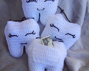 Crochet Tooth Fairy Pillow