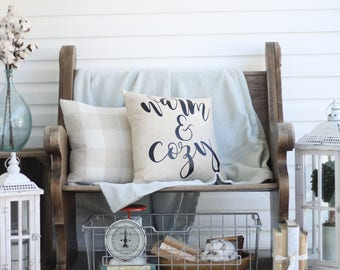 Warm & cozy pillow cover
