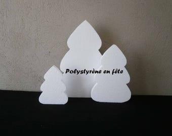 Sapins  en lot de 3 différentes hauteurs en polystyrène-décoration NOEL -Hivers-montagne