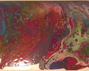 10x20 negative space acrylic pour