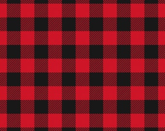 Red Black Buffalo Check Plaid Printed Vinyl Adhesive & HTV
