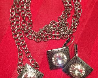 Swarovski nexklace and earring set