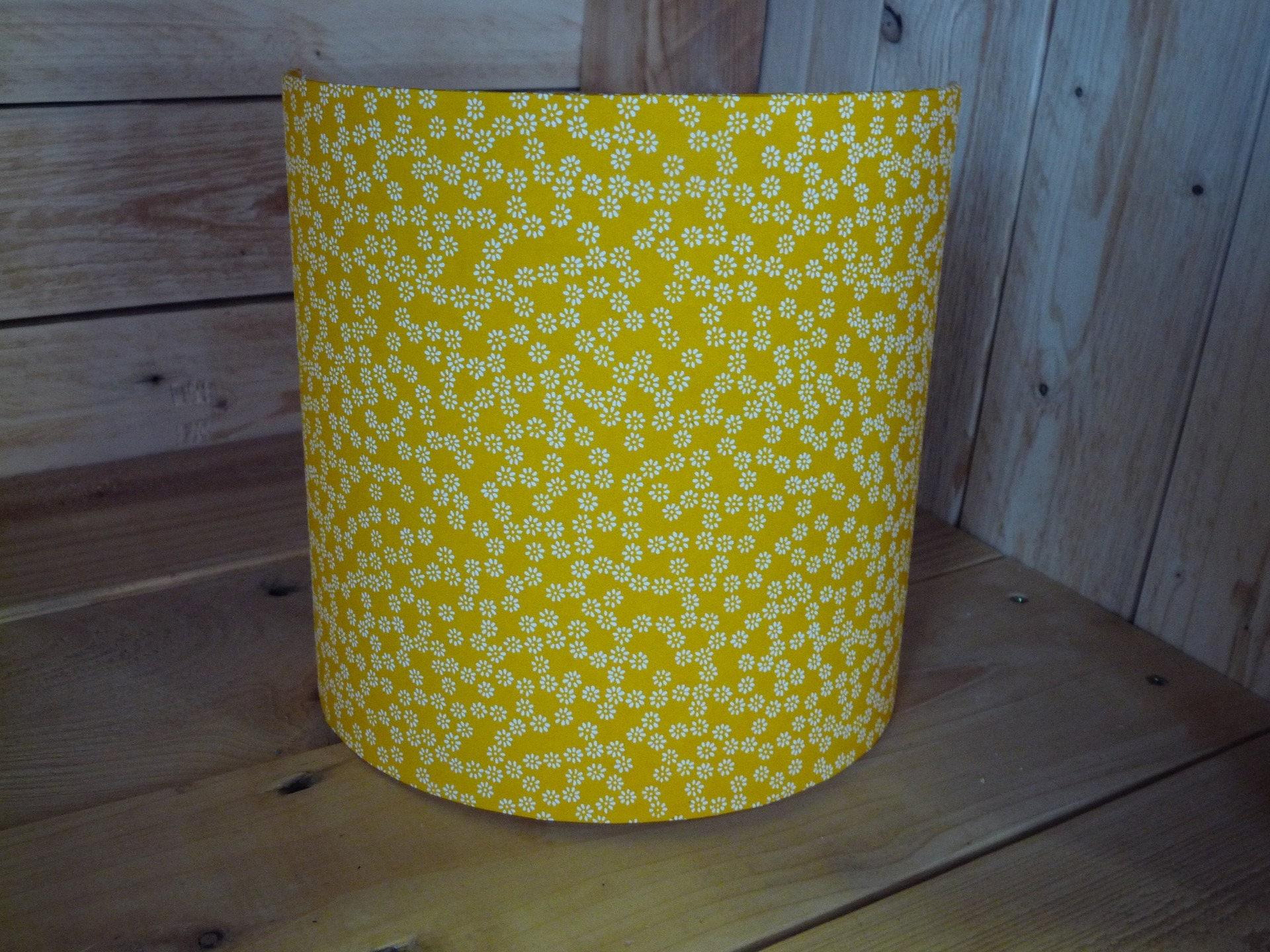 luminaire applique murale papier japonais jaune petite fleurs. Black Bedroom Furniture Sets. Home Design Ideas
