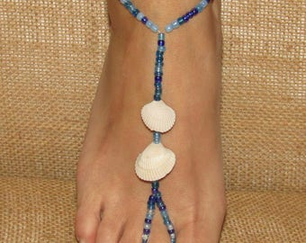 Seashell Barefoot Sandals, Barefoot Sandals, Foot Jewelry, Anklets, Ankle Bracelets, Shell Barefoot Sandals, Beach Wedding Barefoot Sandals