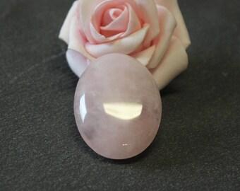 30 x 40 mm - oval cabochon semi precious stone rose quartz CG36