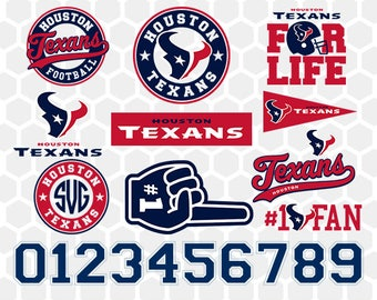 Houston Texans SVG, Houston Texans Files, Instant Download Football Files, Cricut, Cameo, Vinyl Machine, DXF EPS png jpg pdf - 011