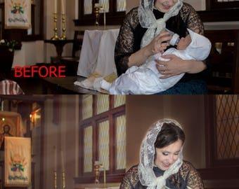 Baptism, Children Photo Retouching,Photo editing, professional photo retouching, face retouch, photo retouching, Photoshop editing service