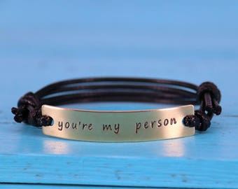 Customized You're my person bracelet, personalized you're my person bracelet, Valentine's Day gift bracelet, Engraved anniversary bracelet