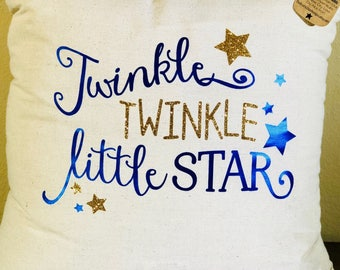 Natural Canvas Pillow - Twinkle, Twinkle Little Star
