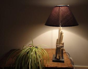 Lamp Base Driftwood Slate