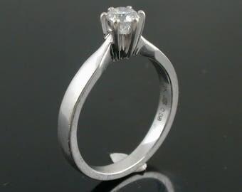 Ladies White Gold Solitaire Diamond Ring - 0.38ct.