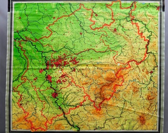 Chalk paint map Etsy