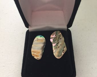 Gold plated opal studs