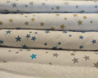 Cotton fabric by the metre-star - in closely order