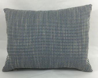 "12 x 16"" Blue and White Textured Designer Pillow Cover - Designer Throw Pillow - Mid Century Modern - Modern Accent Pillow"