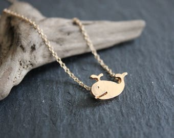 Whale Necklace gold or silver necklace