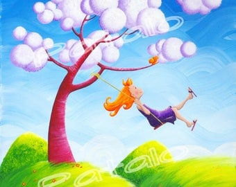 "Giclee print on canvas ""swing"" 30 x 30"