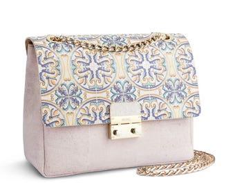 Palace Tiles Flap Cork Crossbody Bag