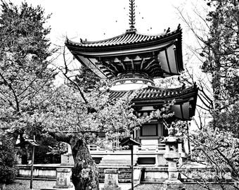 Photography Print - Kyoto, Japan, Black and White, Buddha, Buddhist Temple, Shrine, Japanese Photography, Nippon, Travel, Tokyo, Asia