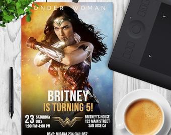 Wonder Woman Invitation, Printables wonder woman Wonder Woman Party, Wonder Woman Birthday, Wonder Woman invitations, Wonder Woman