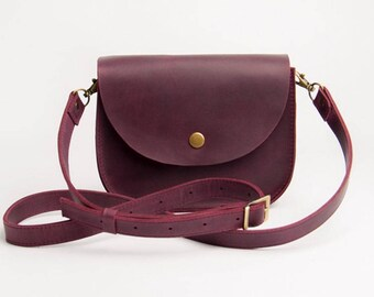 Purple Shoulder Bag Natural Leather Bag Crossbody Bag Shoulder Boho Bag Purple Leather Bag Shoulder Bag Shoulder Purse Mini purse