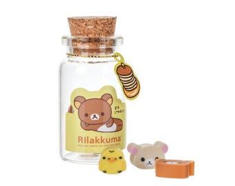 Mini Erasers In Glass Bottle