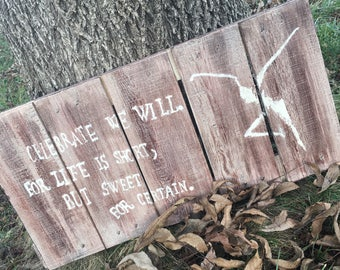 Dave Matthews Band Lyrics -- Distressed Sign Handmade from Wooden Crate
